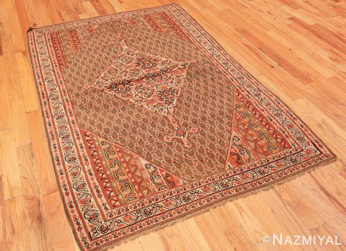 Full Antique Persian Senneh Kilim rug 47278 by Nazmiyal