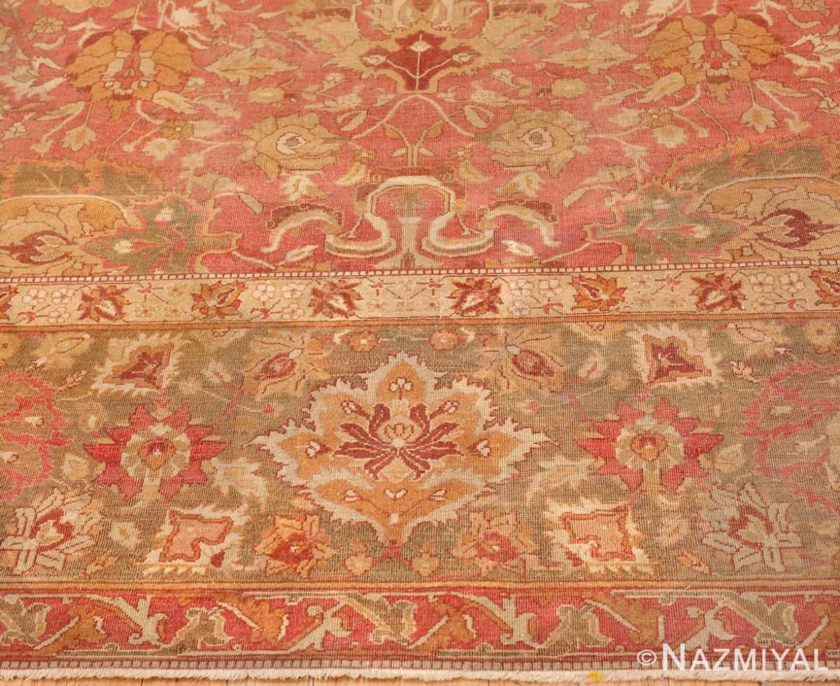 Picture of the Border of Antique Indian Amritsar Carpet 3277