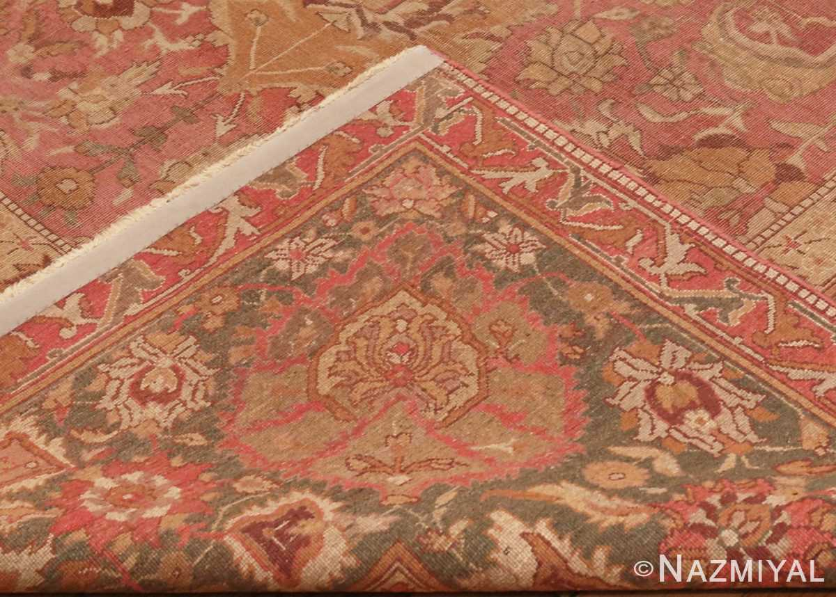 Picture of the Weave of Antique Indian Amritsar Carpet 3277