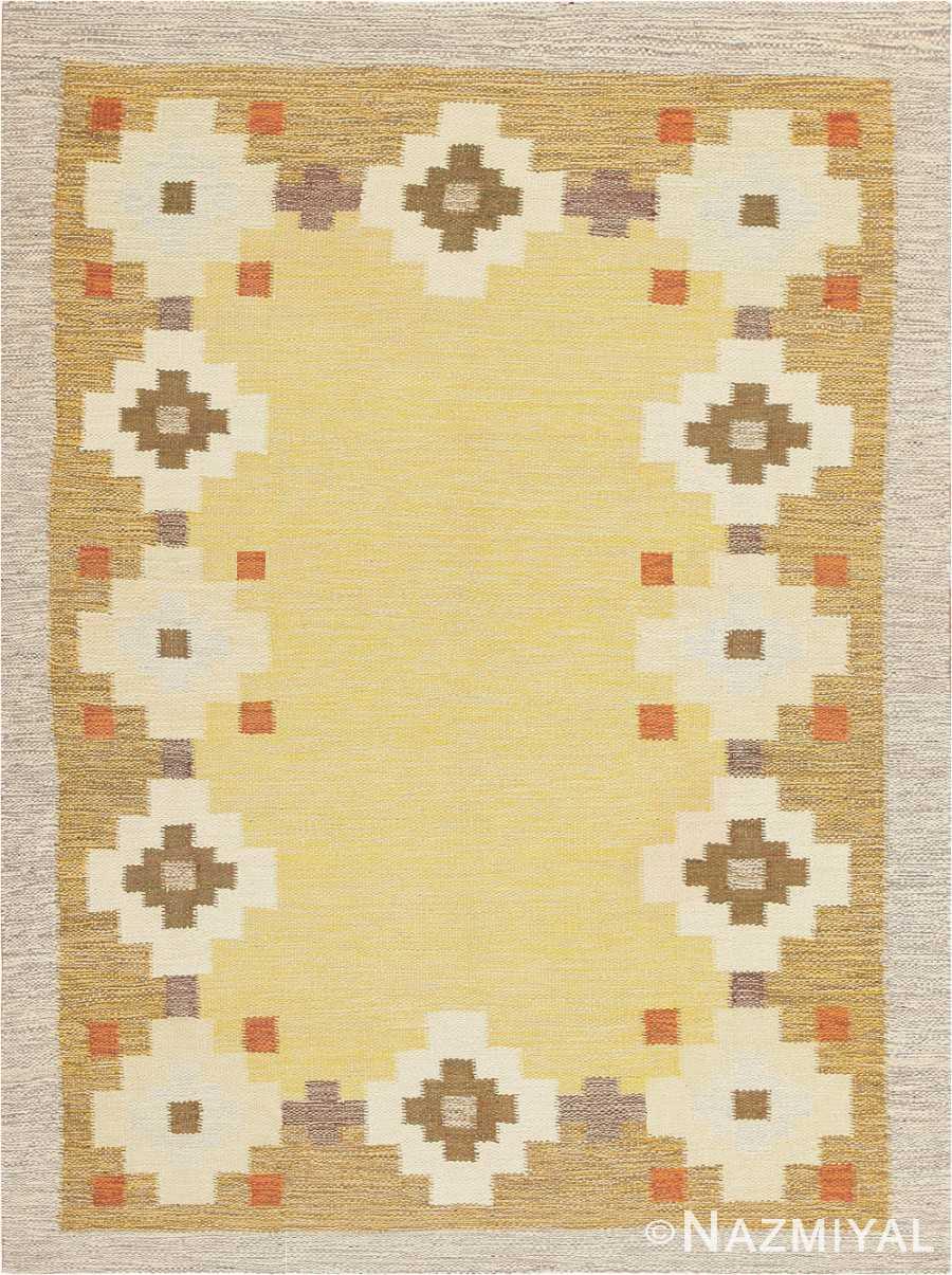 Scandinavian Swedish Kilim Carpet 47307 Nazmiyal