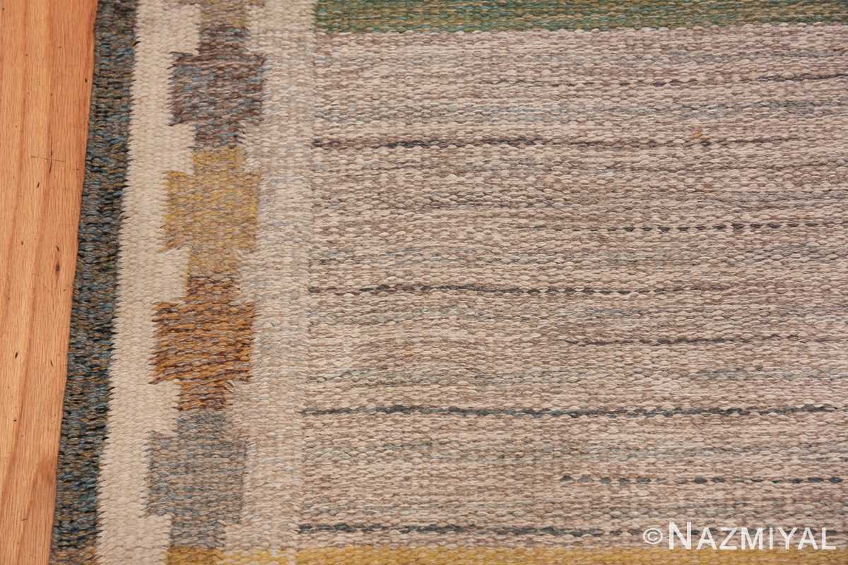 Vintage Scandinavian Rug by Ingegerd Silow 47304 Border Design Nazmiyal