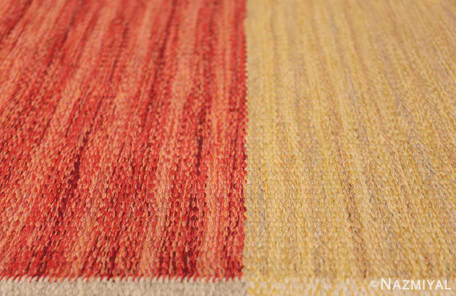 Vintage Scandinavian Rug by Ingegerd Silow 47304 Color Texture Nazmiyal