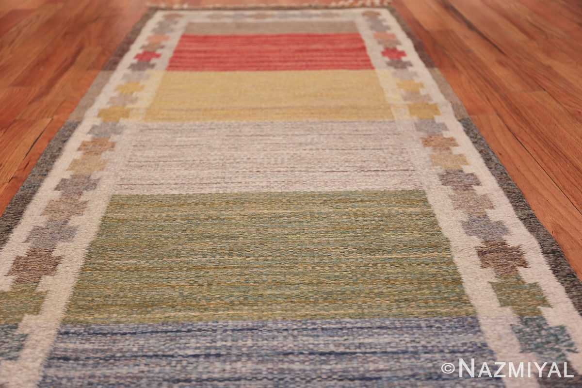 Vintage Scandinavian Rug by Ingegerd Silow 47304 Field Low Angle Nazmiyal