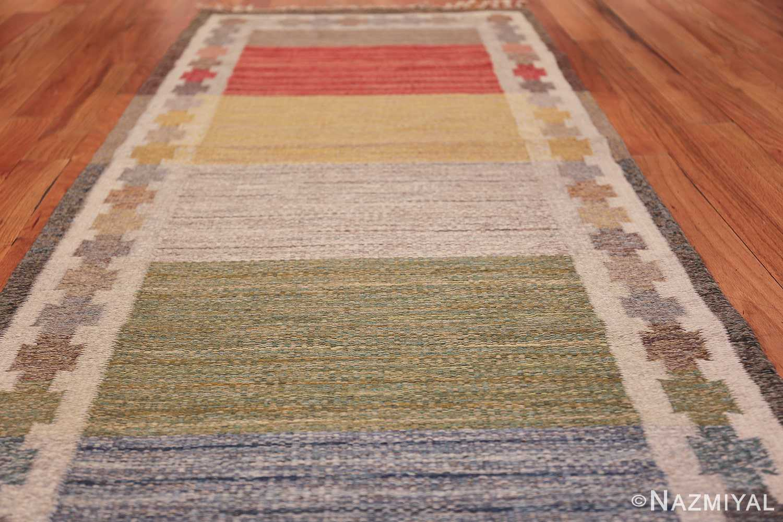 Vintage Scandinavian Rug by Ingegerd Silow 47304 Field Low Angle Nazmiyal