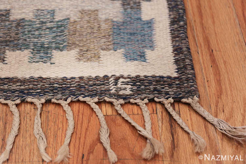 Vintage Scandinavian Rug by Ingegerd Silow 47304 Signature Initials Nazmiyal