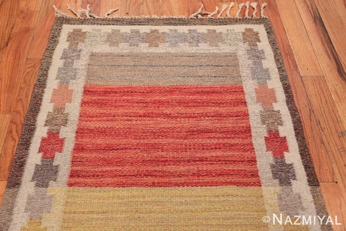 Vintage Scandinavian Rug by Ingegerd Silow 47304 Top Design Nazmiyal