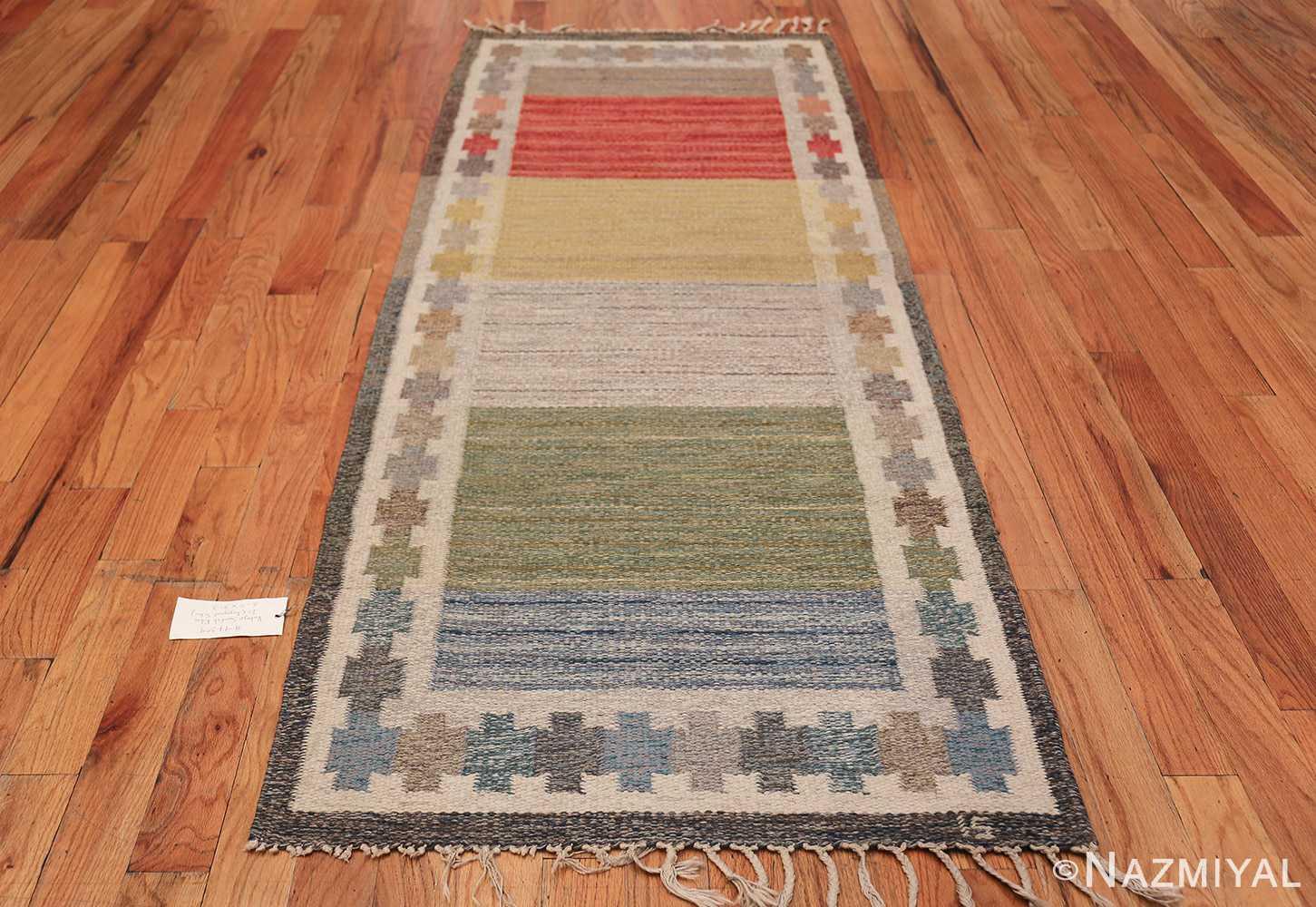 Vintage Scandinavian Rug by Ingegerd Silow 47304 Whole Design Nazmiyal