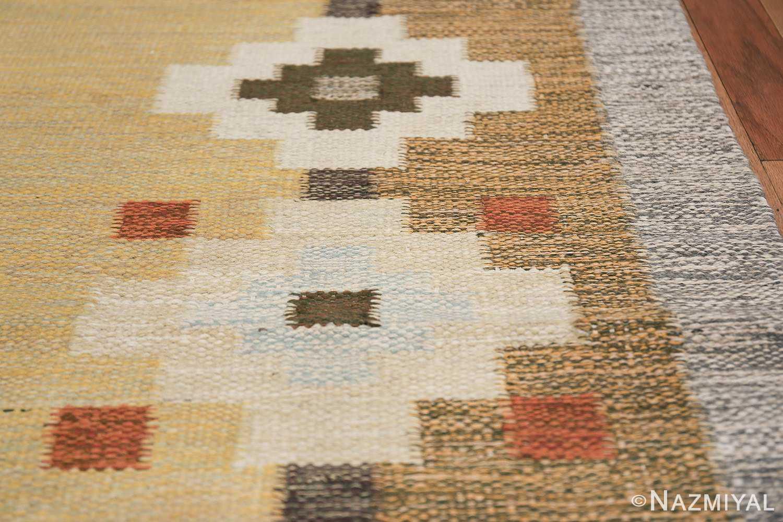 vintage scandinavian swedish rug 47307 border Nazmiyal