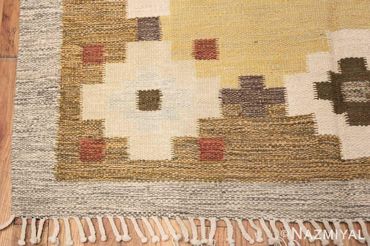 vintage scandinavian swedish rug 47307 corner Nazmiyal