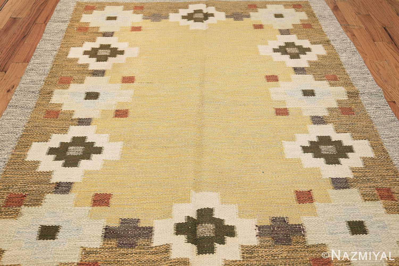 vintage scandinavian swedish rug 47307 field Nazmiyal