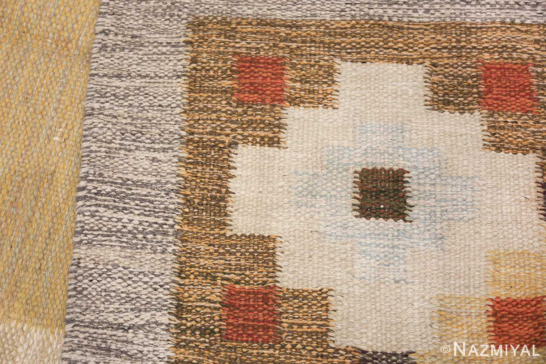 vintage scandinavian swedish rug 47307 knots Nazmiyal
