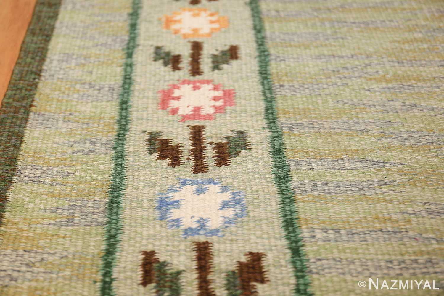 vintage swedish rug 47301 border Nazmiyl