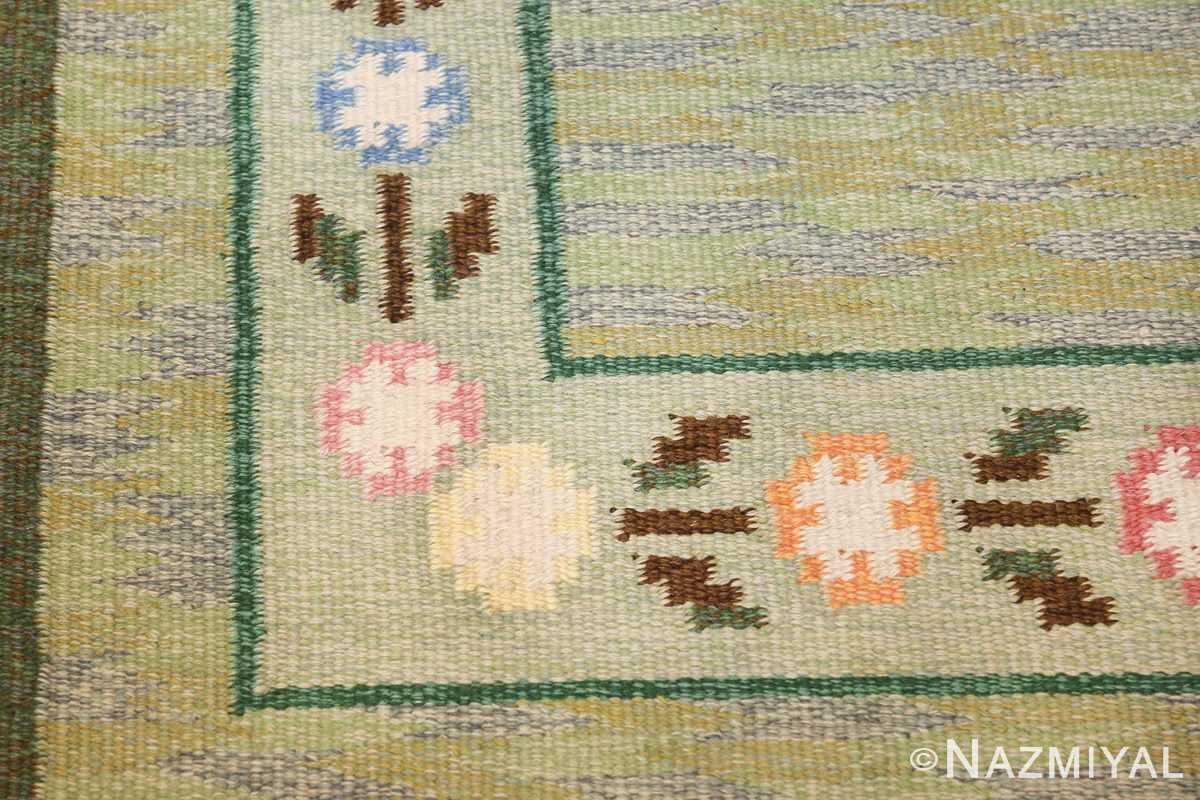 vintage swedish rug 47301 corner Nazmiyal