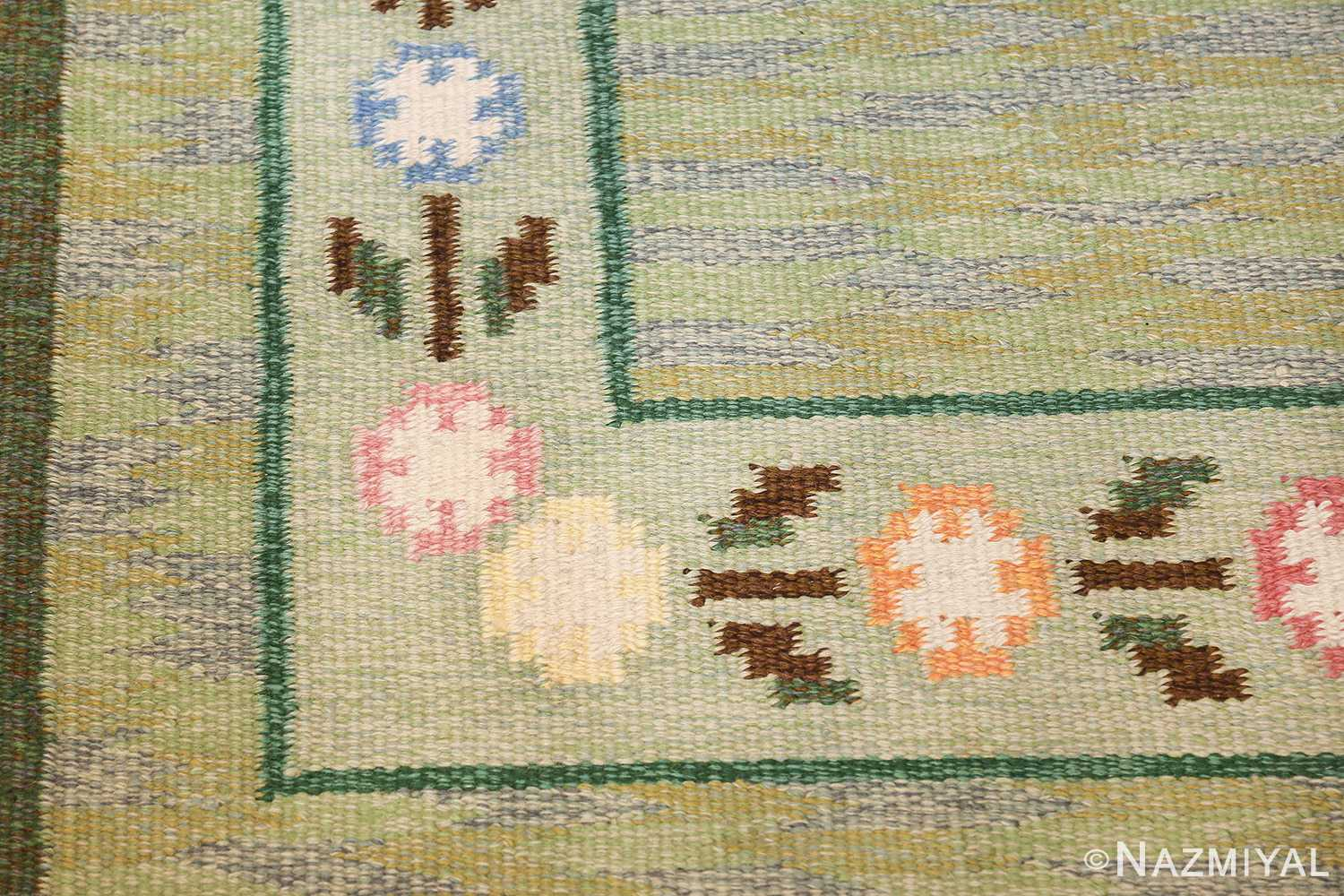 vintage swedish rug 47301 corner Nazmiyal