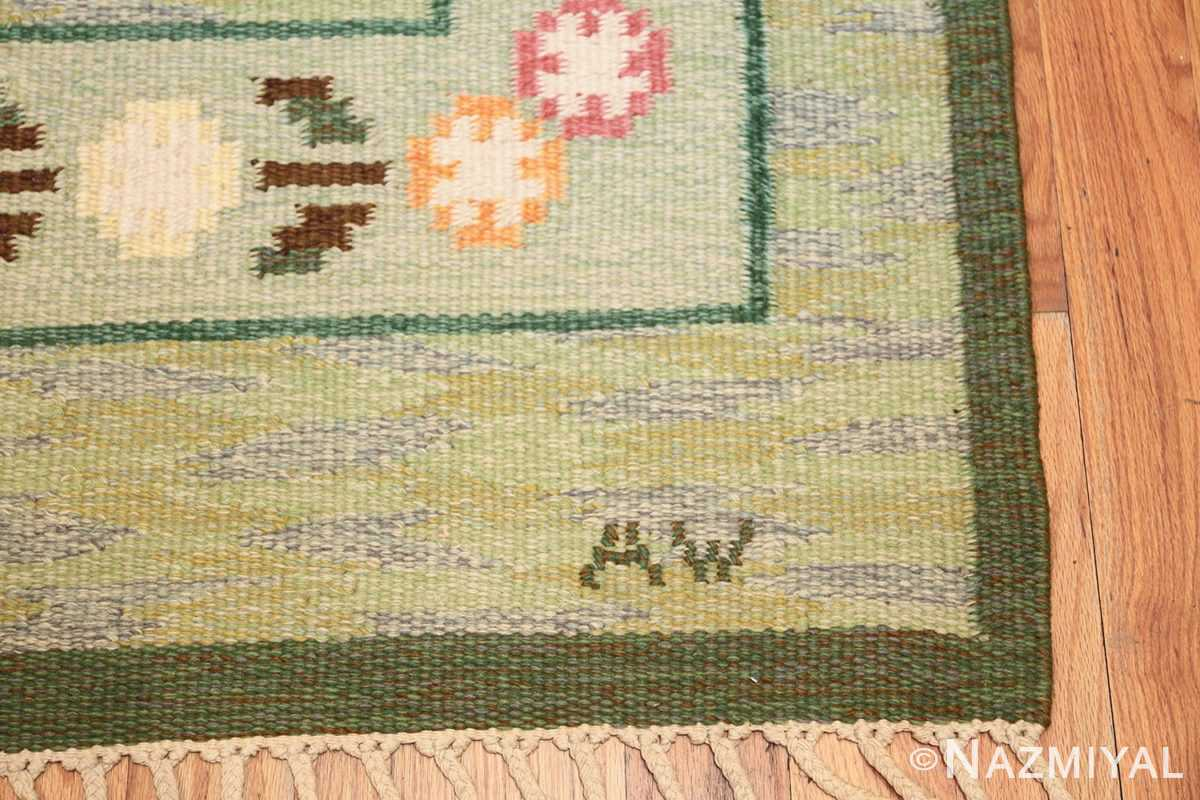 vintage swedish rug 47301 initials Nazmiyal