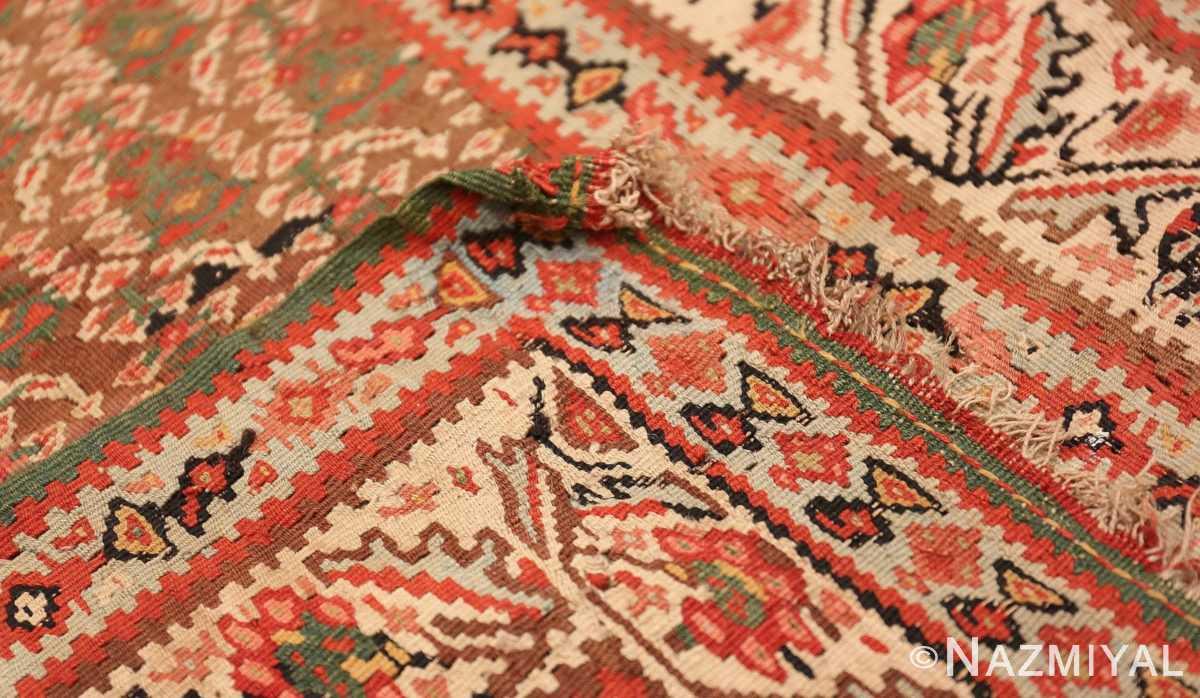 Weave Antique Persian Senneh Kilim rug 47278 by Nazmiyal