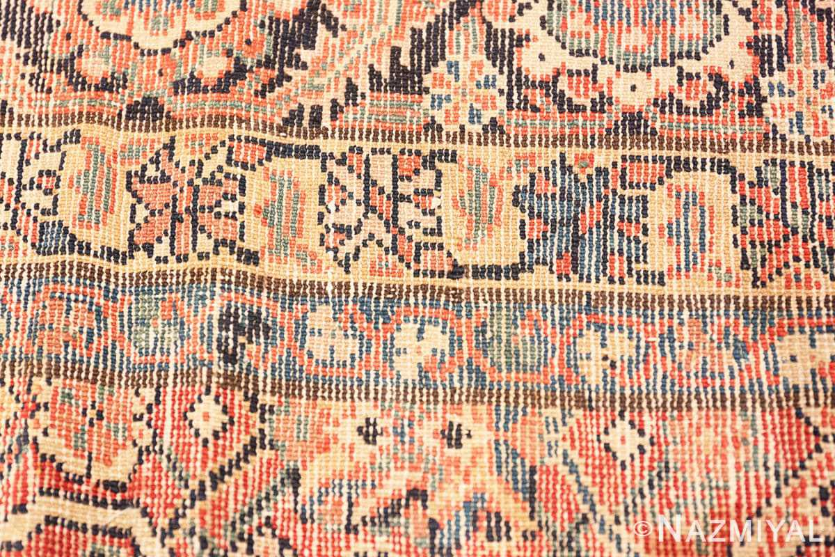 Weave detail Large Antique Persian Farahan carpet 47201 by Nazmiyal