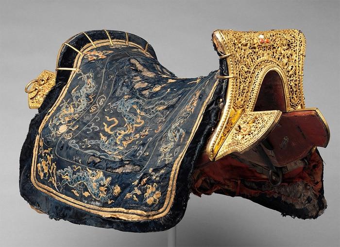 Chinese Saddle and Cover Nazmiyal