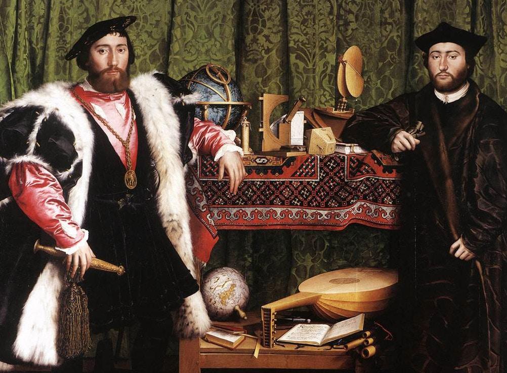 Hans Holbein Painting Ambassadors Nazmiyal Antique Carpets