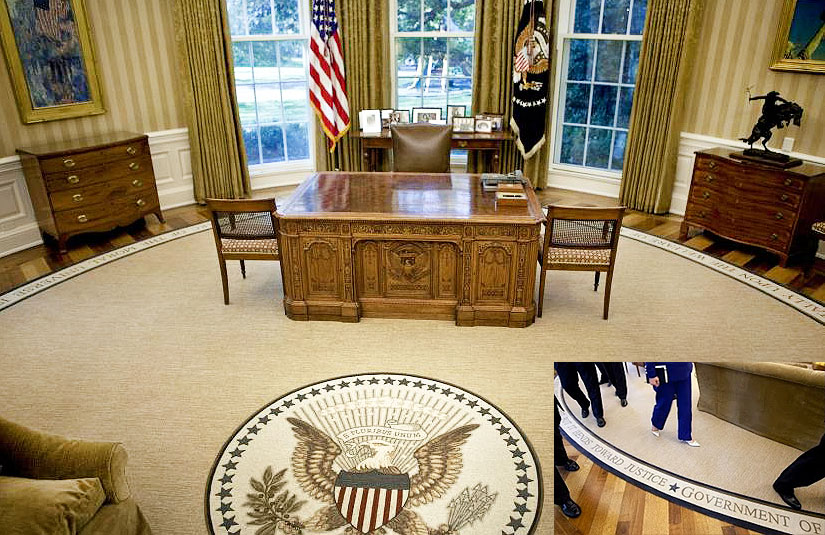 Oval office floor White House President Barack Obama Oval Office Rug Nazmiyal Antique Rugs Oval Office Rugs Oval Office Presidential Carpets Oval Office Rug