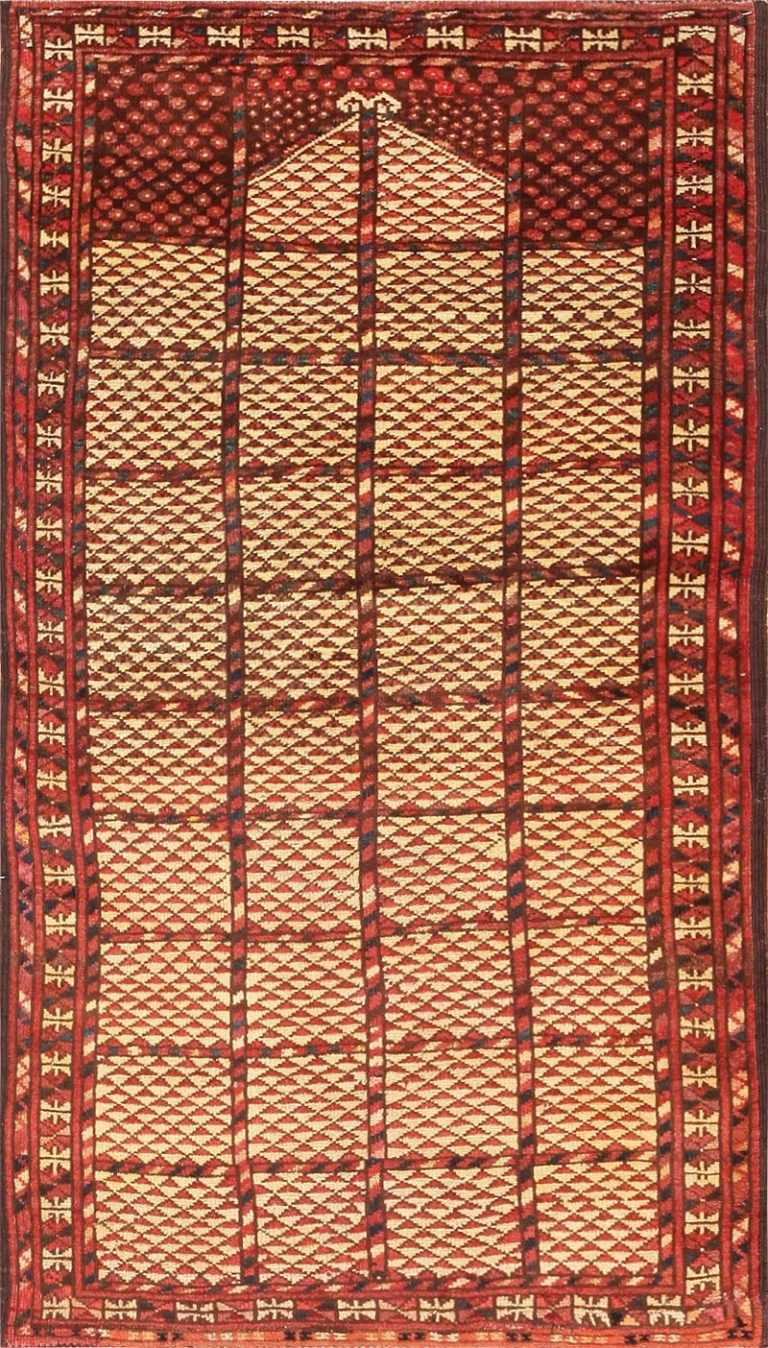 Antique Bashir Prayer Rug 47375 Large Image