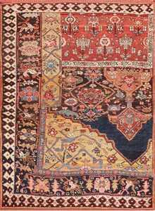 Antique Bidjar Persian Sampler Rug 47377
