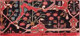 Antique Persian Bidjar Sampler Wagireh Carpet 47379