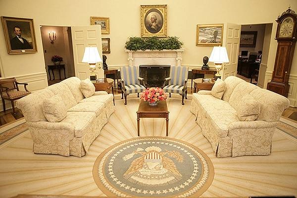 President George W Bush Sunburst Oval Office Rug Nazmiyal Antique Rugs