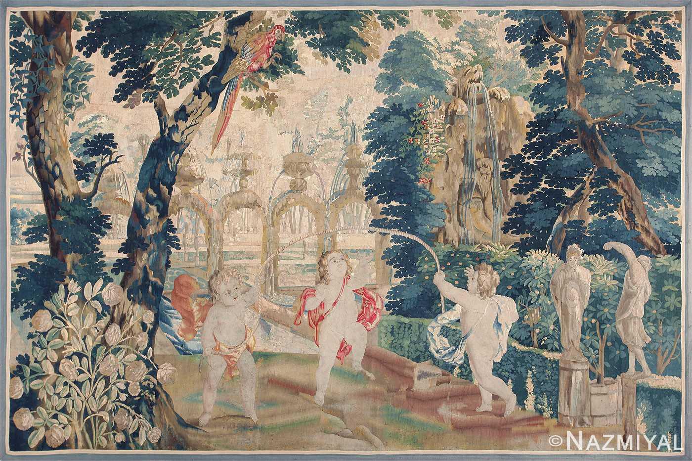 18th Century Flemish Tapestry Pastoral 47384 Nazmiyal