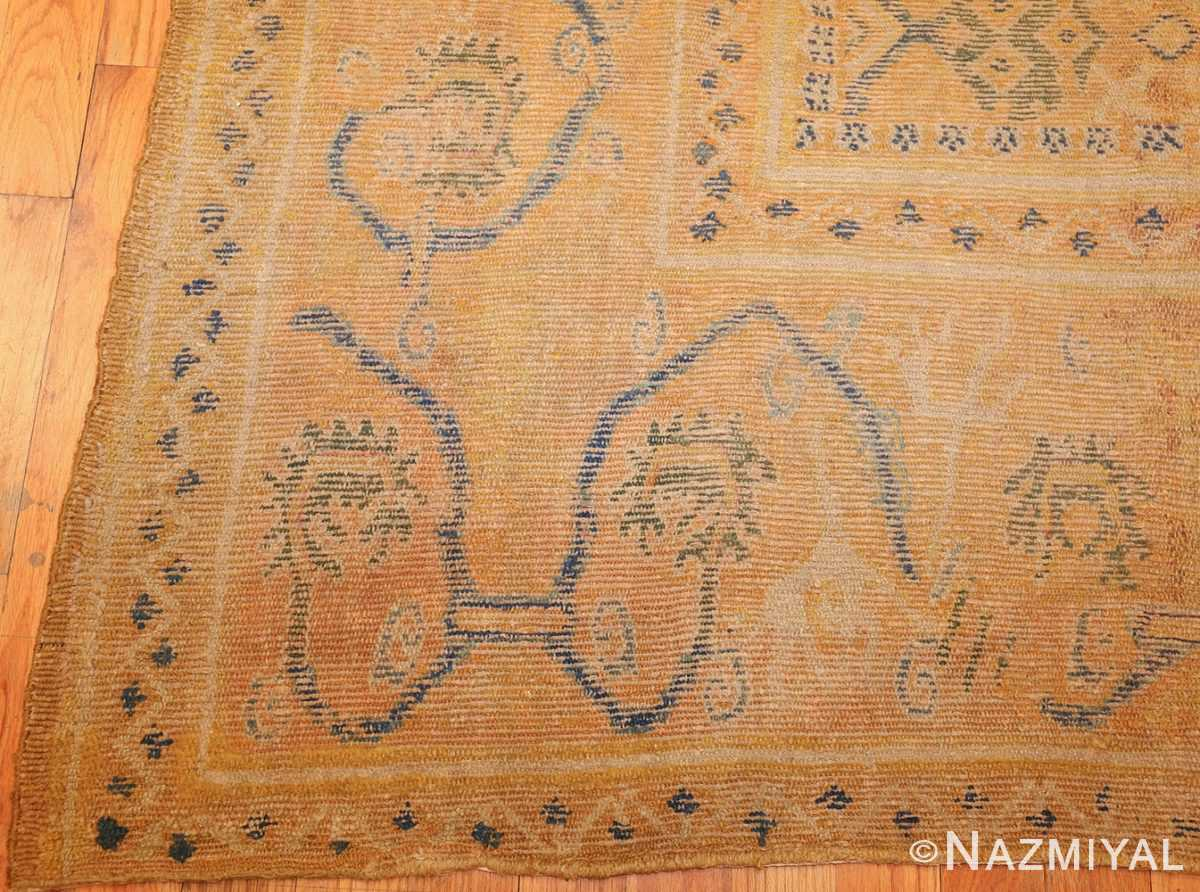 antique 17th century spanish cuenca carpet 47370 corner Nazmiyal