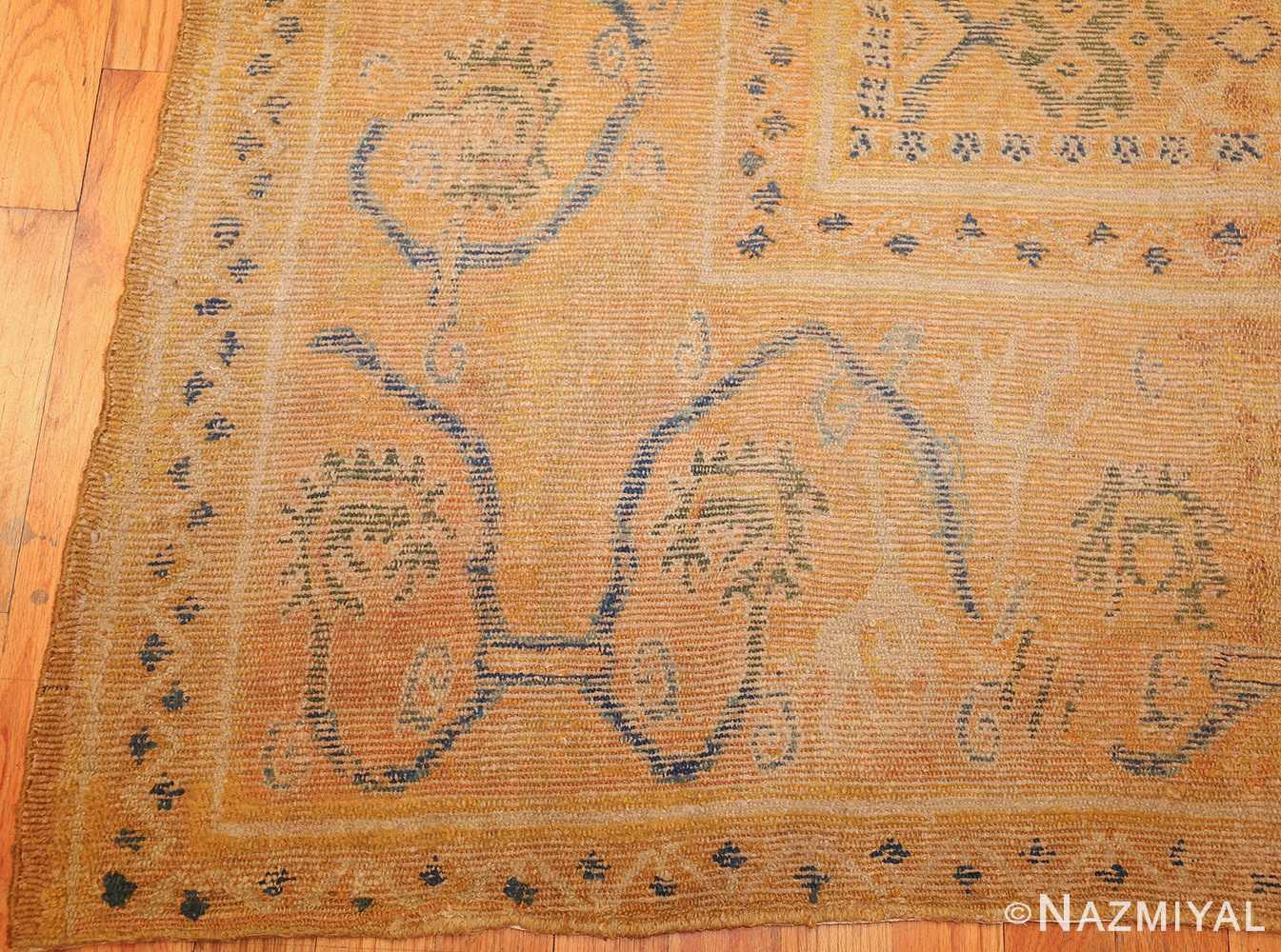 antique 17th century spanish cuenca carpet 47370 corner Nazmiyal