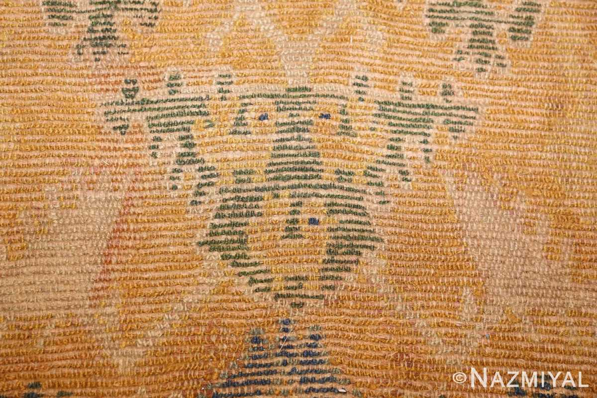 antique 17th century spanish cuenca carpet 47370 lion Nazmiyal