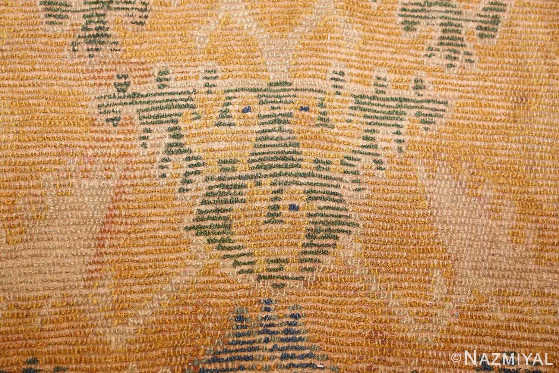 antique 17th century spanish cuenca carpet 47370 lion Nazmiyal