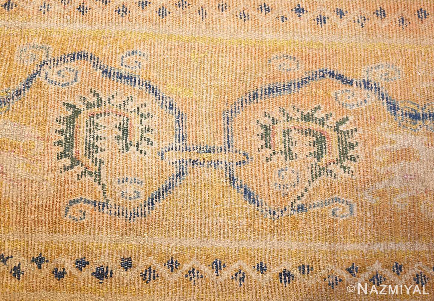 antique 17th century spanish cuenca carpet 47370 weave Nazmiyal