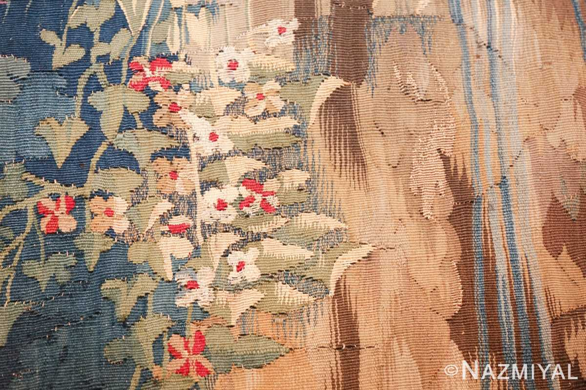 antique 18th century flemish tapestry titled pastoral 47384 blooms Nazmiyal