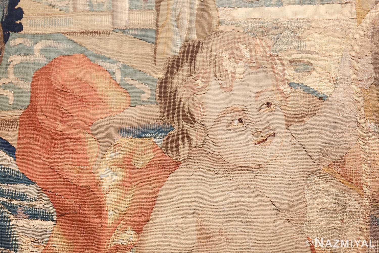 antique 18th century flemish tapestry titled pastoral 47384 peeking Nazmiyal