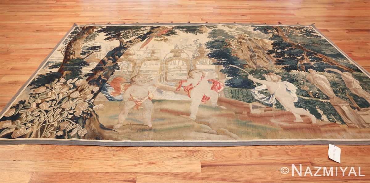 antique 18th century flemish tapestry titled pastoral 47384 whole Nazmiyal