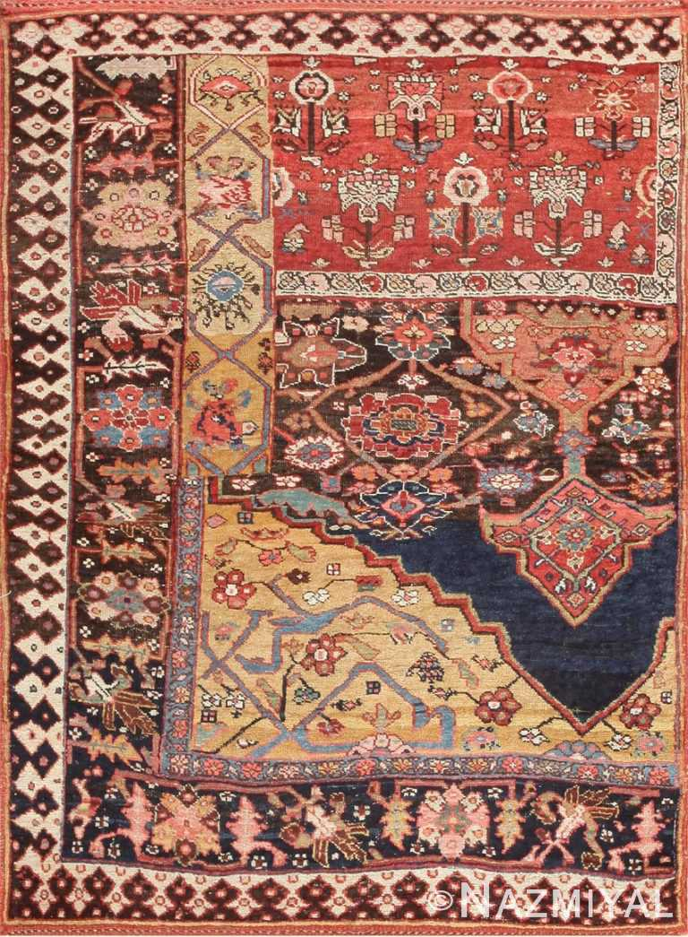 Antique Bidjar Persian Sampler Rug 47377
