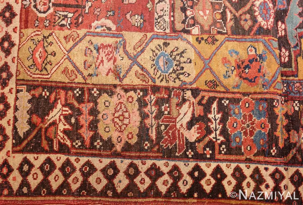 antique persian bidjar sampler rug 47377 border Nazmiyal