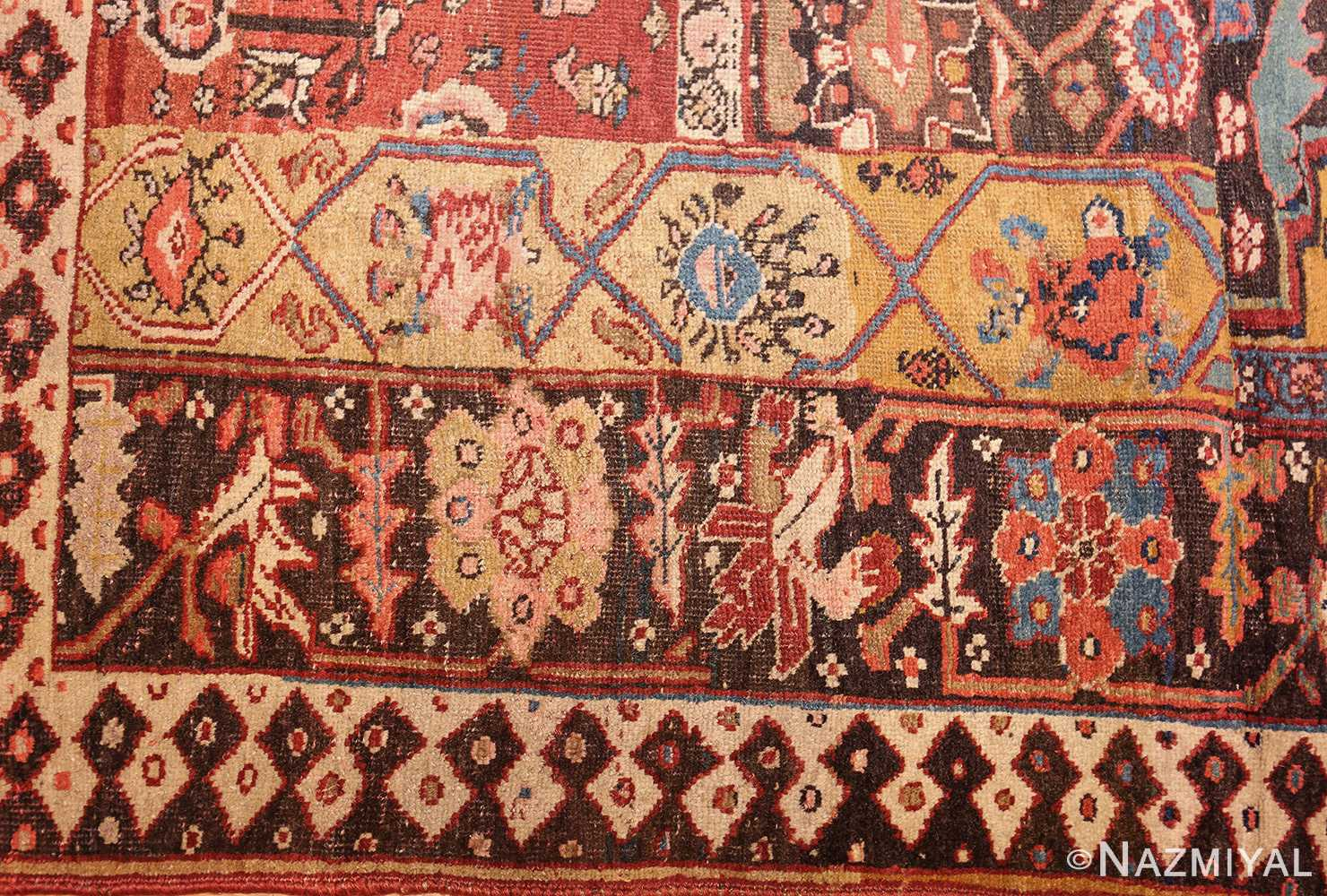 antique persian bidjar sampler rug 47377 border Nazmiyal