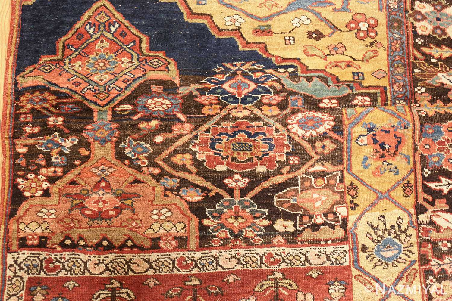 antique persian bidjar sampler rug 47377 top Nazmiyal