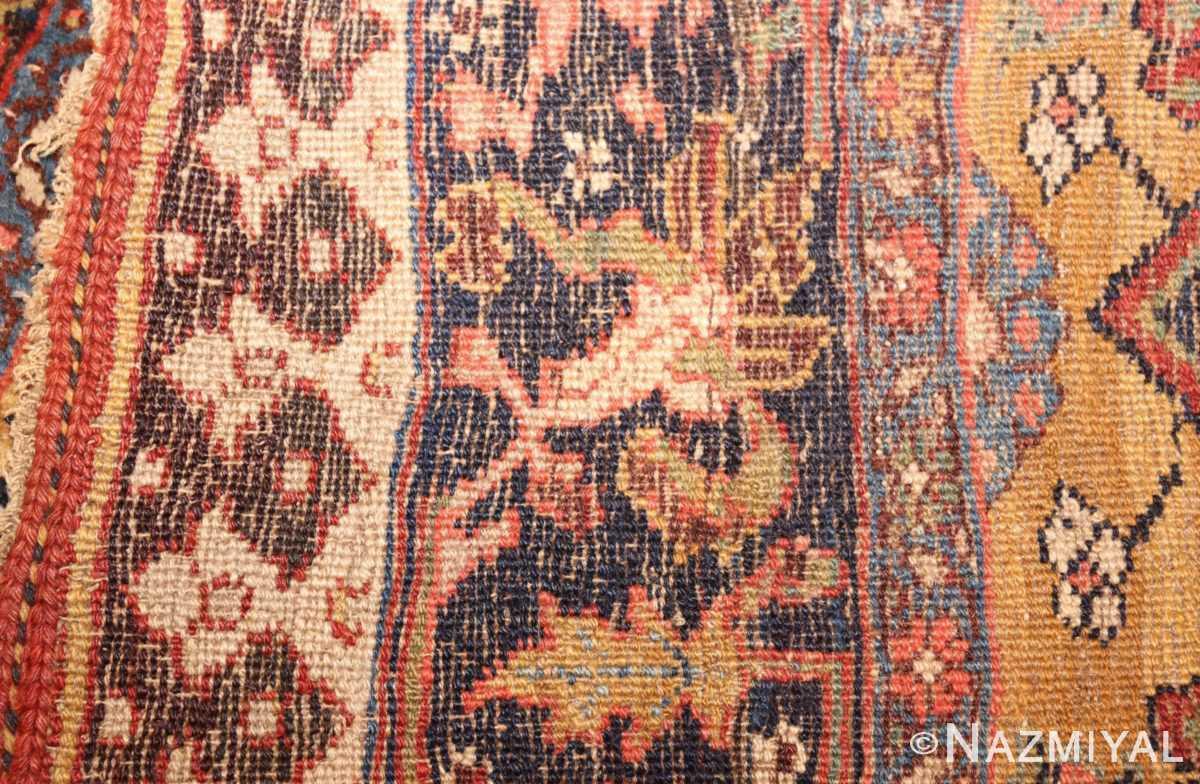 antique persian bidjar sampler rug 47377 weave Nazmiyal