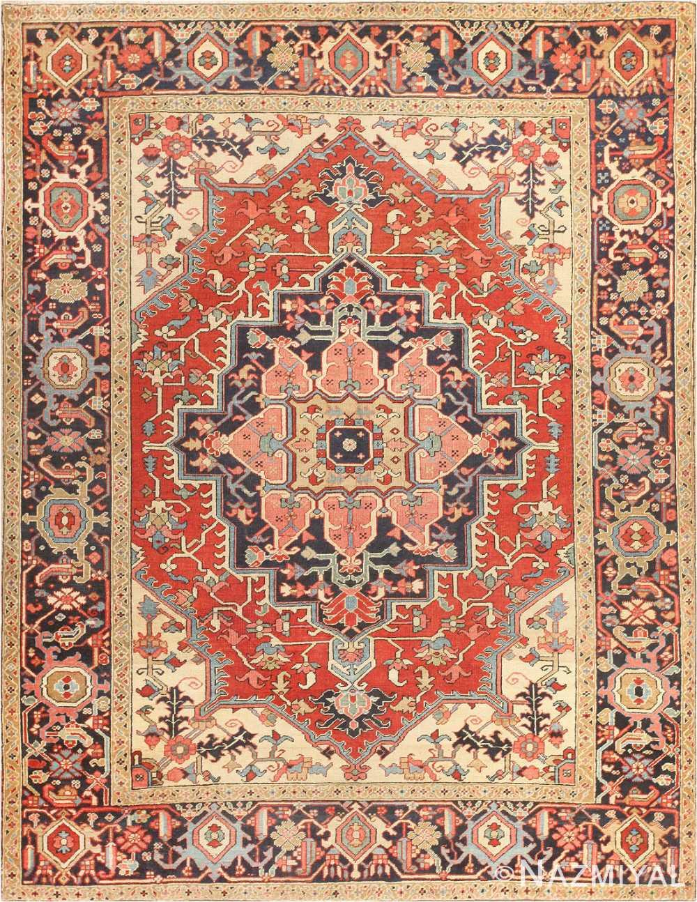 Antique Persian Serapi Rug 47251 by Nazmiyal