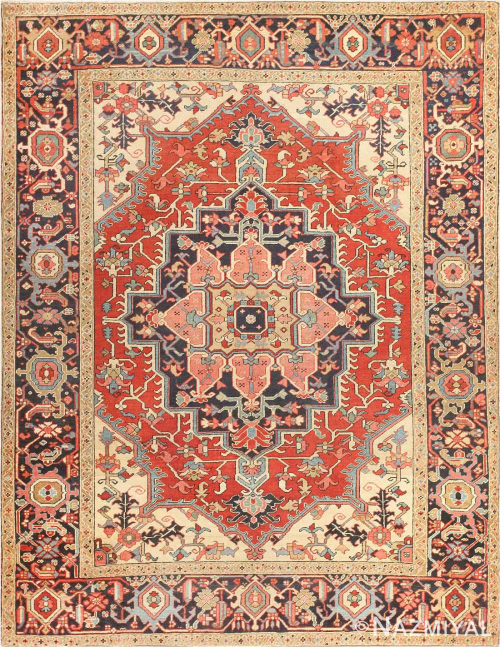 Serapi Rug  Antique Persian Heriz Serapi Carpet 47251 By Nazmiyal