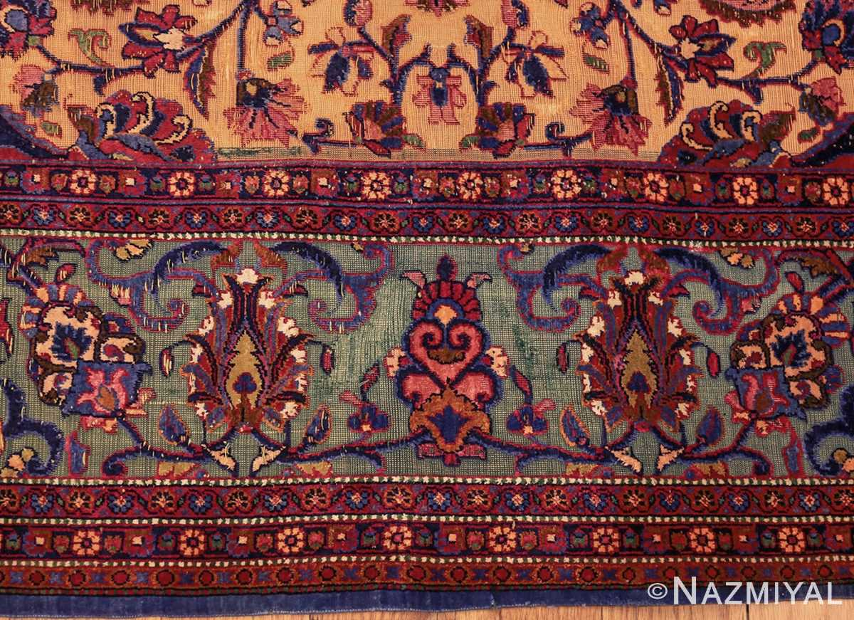 antique persian silk kashan rug 47263 border edited Nazmiyal