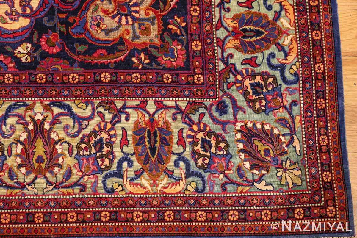 antique persian silk kashan rug 47263 corner edited