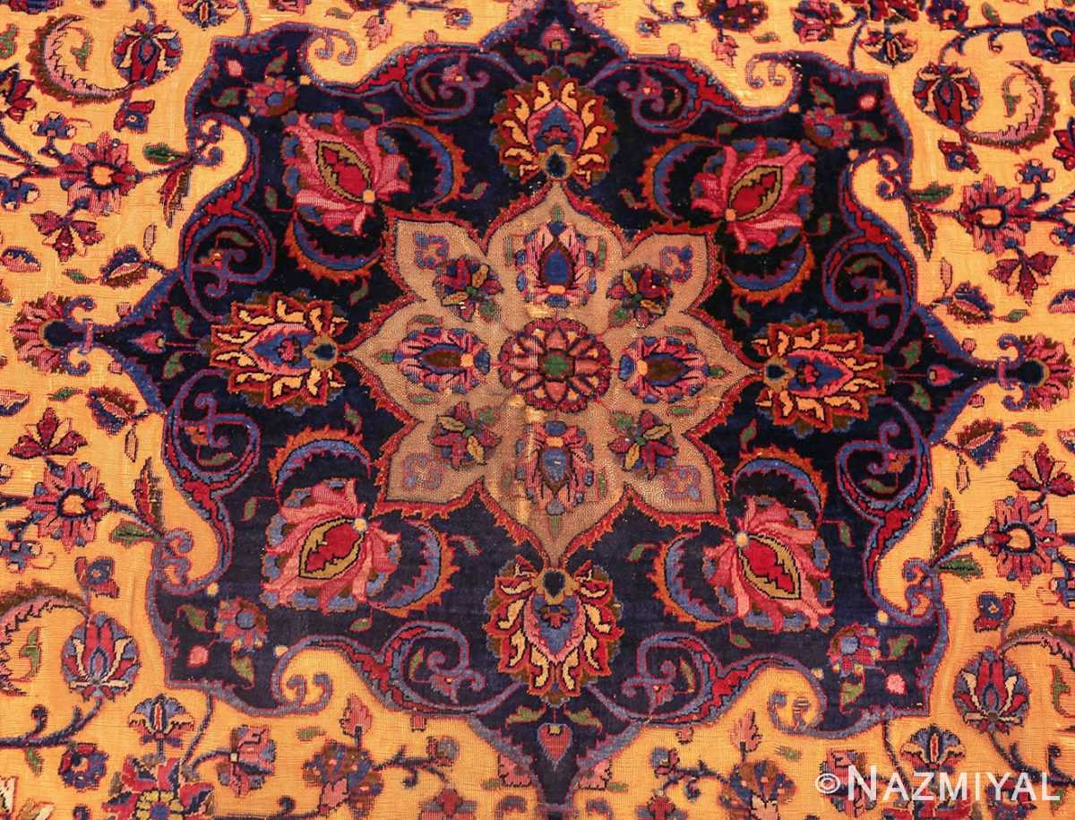 antique persian silk kashan rug 47263 medallion edited Nazmiyal