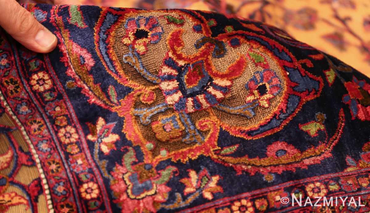 antique persian silk kashan rug 47263 pile edited Nazmiyal