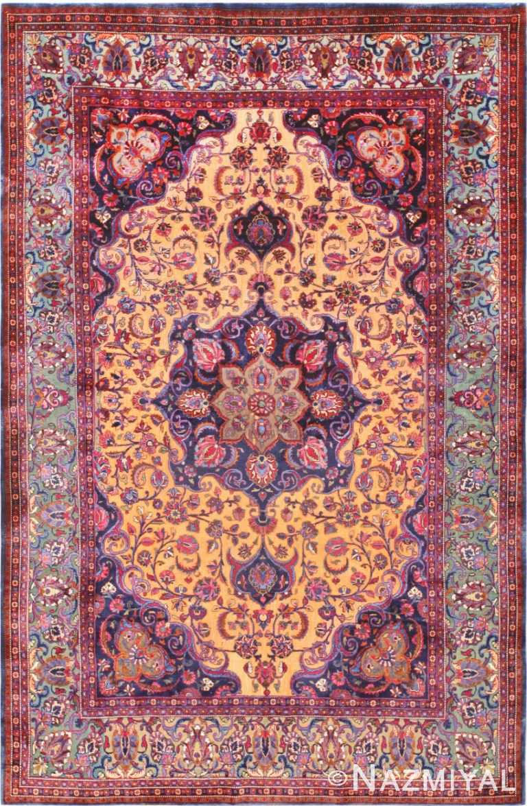 Antique Persian Souf Kashan Rug 47263 Nazmiyal