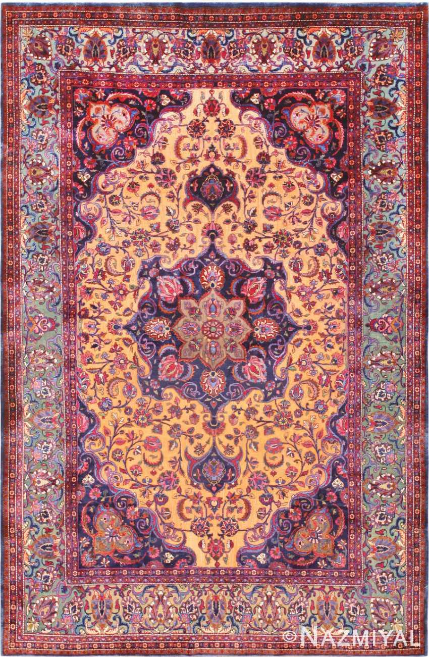 Antique Persian Souf Kashan Rug 47263 Nazmiyal